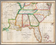 Southern Section of the United States including Florida &c. by John Melish. 1816. Entered ... by John Melish ... 1 March 1813. Improved nth. June 1816.