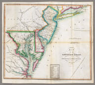Map of the American Coast, from Lynhaven Bay to Narraganset Bay, by John Melish.