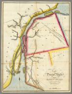 Map of Detroit River and Adjacent Country, From an Original Drawing, by a British Engineer.