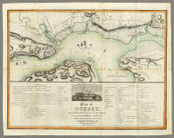 Plan of Quebec and Adjacent Country Shewing The principal Encampments & Works of the British & French Armies during the Siege by General Wolfe in 1759. Reduced from the M.S.S. Map of Capt. J.B. Glegg, by John Melish.