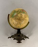 Joslin's Six Inch Terrestrial Globe, Containing the Latest Discoveries. Boston. Gilman Joslin. 1860. Drawn and Engraved by W.B. Annin.