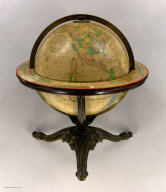 The Franklin Terrestrial Globe 12 Inches in Diameter Containing All The Geographical Divisions & Political Boundaries to the present date. Carefully Compiled from the best Authorities. H.B. Nims & Co. Troy, N.Y. Rae Smith, Engraver. N.Y.