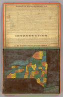 McCleary & Pierce's Geographical Analysis of the State of New York, Albany 1850. Patented Sep. 1849.