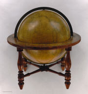 Wilson's New American Thirteen Inch Terrestrial Globe, Exhibiting with the Greatest Possible Accuracy, The Positions of the Principal Known Places of the Earth, with the Tracks of Various Circumnavigators, Together with New Discoveries and Political Alterations Down to the present Period 1850. By Cyrus Lancaster, Albany, N.Y.