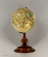 Joslin's Six Inch Terrestrial Globe, Containing the Latest Discoveries. Boston. Gilman Joslin. Drawn and Engraved by W.B. Annin.