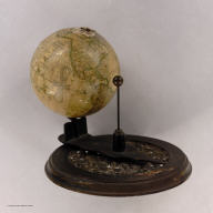 (New Solar Telluric Globe). (with) Joslin's Six Inch Terrestrial Globe, Containing the Latest Discoveries...1854. Drawn and Engraved by W.B. Annin.