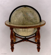 Loring's Terrestrial Globe containing all the Late Discoveries and Geographical Improvements, also the Tracks of the most celebrated Circumnavigators. Compiled from Smith's new English globe, with additions and improvements by Annin & Smith. Revised by G.W. Boynton. Manufactured by Gilman & Joslin, Boston. 1859.