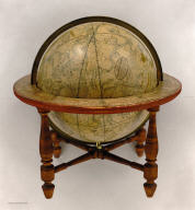 A New American Celestial Globe Containing the positions of nearly 5000 Stars, Clusters, Nebulae &c. Carefully compil'd & laid down from the latest & most approv'd astronomical tables reduced to the present time. By J. Wilson & Sons. 1826. Albany, St. N.Y.