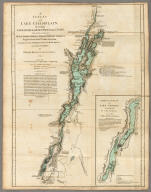 A Survey of Lake Champlain, including Lake George, Crown Point and St. John. Surveyed by Order of His Excellency Major-General Sr. Jeffery Amherst, Knight of the most Honble. Order of the Bath, Commander in Chief of His Majesty's Forces in North America, (now Lord Amherst) by William Brassier, Draughtsman. (with) A Particular Plan of Lake George. Surveyed in 1756. By Capt. Jackson. London: Printed for Robt. Sayer & Jno. Bennett ... Augst. 5th 1776.