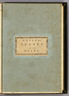 (Covers to) A Survey of the Roads of the United States of America by Christopher Colles. 1789. C. Tiebout, Sculpt.