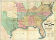 """Lloyd's Map Of The Southern States Showing all the Railroads, their Stations & Distances, Also The Counties, Towns, Villages, Harbors, Rivers And Forts. Compiled from the latest Government and other reliable Sources. 1861. New York, J.T. Lloyd Publisher 164 Broadway. London """" 156 Cheapside. Entered ... 1861, by J.T. Lloyd ... New York."""
