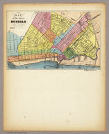 Map of The City of Buffalo. Chs. Magnus lith. New York. (Hand colored map on a letter sheet).