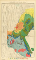 Geological Map Of The Western Part Of The Plauteau Province. Sheet II.(Index to) ...The Tertiary History Of The Grand Canon District.