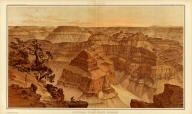 Panorama from Point Sublime. [Part I. Looking East.] W(illiam) H. H(olmes). Atlas Sheets XV. Julius Bien & Co. lith. U.S. Geological Survey, Geology of the Grand Canon District.