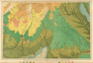 Geologic Map Of The Mesozoic Terraces Of The Grand Canon District And The Southern Portions Of The High Plateaus. Atlas Sheet XXI. Geology by C.E. Dutton. Julius Bien & Co. lith. U.S. Geological Survey, Geology of the Grand Canon District.