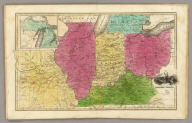 Western States. (with) inset map of Upper Michigan.