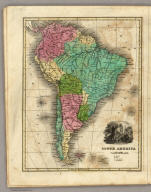South America. Engraved by E.F. Woodward.