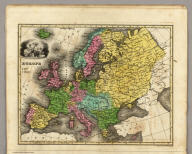 Europe. Engraved by E.F. Woodward.