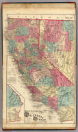 Map of the States of California and Nevada Carefully Compiled From Actual Surveys, Personal examinations and information furnished by the County Surveyors of the State expressly for this Work. Published by Thompson & West. 120 Sutter St. San Francisco. (with) inset map of San Bernardino and San Diego Counties.