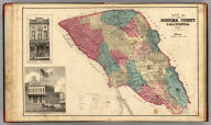 Map of Sonoma County California. 1877. (with) Sonoma Daily and Weekly Democrat, and McCunes Block.