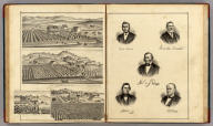 Res. of P.H. Thompson (with) Res. of A.D. Lowell (with) Orange Grove & Res. of C.C. Carriger (all) Sonoma, Sonoma Co. Cal. (with) Res. of Charles Lehn, Russian River Tp., Sonoma Co. Cal. (with) Portraits of General M.G. Vallejo, Franklin Bedwell, Harmon G. Heald, Cyrus Alexander and Jacob R. Snyder.