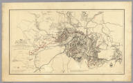 Map illustrating the Siege of Atlanta, Ga. by the U.S. Forces, under Command of Maj. Gen. W.T. Sherman from the passage of Peach Tree Creek, July 19th 1864 to the commencement of the movement upon the Enemy's Lines of communication south of Atlanta, August 26, 1864 ... Reduced and engraved in the Engineers Bureau, War Dept. from an original prepared under the directions of Cap. O.M. Poe, Corps of Engs. and Senr. Engr. on Genl Sherman's Staff. Edw. Molitor, Lith.