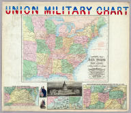 Union Military Chart. Complete Map Of The Rail Roads And Water Courses In The United States & Canada. Charles Magnus & Co. ... Liverpool, New York Office No. 12 Frankfort St. ... Entered ... 1859 by Charles Magnus & Co. ... New York. (with) Military Map Of Maryland & Virginia. (with) Map Of Northern Military Movements: Between New York & St. Louis. Published by Chs. Magnus ... Entered ... 1861 by Charles Magnus ... New York. (with two small untitled maps: Pensacola Bay and United States).