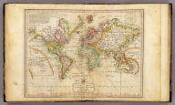 The World on Mercator's Projection, with all the latest Discoveries. H.S. Tanner sc. Published 1st June 1816 by J. Melish, Philadelphia. Improved to 1820.