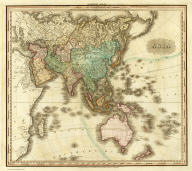 Asia. Engraved & Published by Tanner, Vallance, Kearney & Co. No. 10 Library St. Philadelphia. American Atlas.