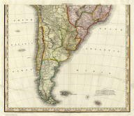 South America and West Indies. 1818. (southern section) Drawn, Engraved & Published by Tanner, Vallance, Kearney & Co. Philadelphia. Entered ... 8th day of June, 1818, by Tanner, Vallance, Kearney & Co. ... Pennsylvania. American Atlas.