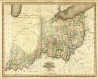 Ohio and Indiana By H.S. Tanner. Engraved & Published by Tanner, Vallance, Kearny & Co. No. 10 Library St. Philadelphia. Entered ... 24th day of May 1819, by Tanner, Vallance, Kearny & Co. ... Pennsylvania. American Atlas.