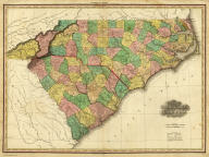 Map of North & South Carolina. By H.S. Tanner. Published by H.S. Tanner, Philadelphia. Engraved by H.S. Tanner & Assistants. Entered ... 20th day of August 1823, by H.S. Tanner... Pennsylvania. American Atlas.