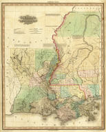 Louisiana and Mississippi By H.S. Tanner. Engraved & Published by H.S. Tanner, Philadelphia. Entered ... 20th day of Decr. 1820, by H.S. Tanner... Pennsylvania. American Atlas.
