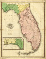Map of Florida By H.S. Tanner. (with) West Part of Florida. Published by H.S. Tanner, Philadelphia. Engraved by H.S. Tanner & Assistants. Entered ... 20th day of August 1823, by H.S. Tanner... Pennsylvania. American Atlas.