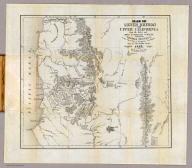 """Map Of Lower Oregon and Upper California from the latest and Most Authentic Surveys Published by Thomas Tennent, at the Surveying & Navigation Warehouse Sign of """"The Wooden Sailor."""" San Francisco. 1853. California. Lith. by Alex: Zakreski Cor. Washington & Monty. Entered ... 1853, by Thomas Tennent ... California."""