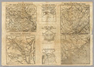 Seven maps from the New York Herald War Maps and Diagrams.