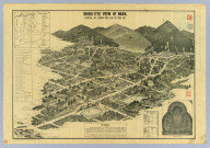 Bird's-eye view of Nara : Capital of Japan 709 A.D. to 784 A.D. [after 1868]
