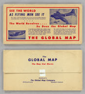 (Covers to) The Global Map. Pat. No. D136173, Other Patents Pending. The Global Map Co. Minneapolis, Minn. Copyright By The H.M. Gousha Company, Chicago, Ill. Lithographed In U.S.A.