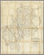 Map Of The Country Between Monterey, Tenn. & Corinth, Miss.