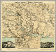 Hughes Military Map Of Richmond & Petersburgh, Va.