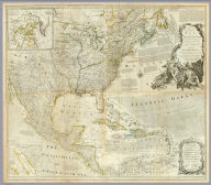 (Composite of) An Accurate Map Of North America. Describing and distinguishing the British and Spanish Dominions on the great Continent, According to the Definitive Treaty Concluded at Paris 10th Feby. 1763. Also all the West India Islands Belonging to, and possessed by the Several European Princes and States. The whole laid down according to the latest and Most authentick Improvements, By Eman Bowen Gegr: to His Majesty and John Gibson Engraver. London. Printed for Robert Sayer No. 53 Fleet Street as the Act Directs 2d. July 1775.