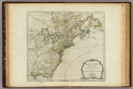 North America from the French of Mr. D'Anville Improved with the English Surveys made Since the Peace. London Printed for Robt. Sayer & J. Bennett, Map & Printsellers, No. 53 Fleet Street, as the Act directs 10 June 1775.