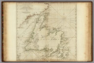 A General Chart Of The Island Of Newfoundland with the Rocks & Soundings. Drawn from Surveys taken by Order of the Right Honourable the Lords Commissioners of the Admiralty. By James Cook and Michael Lane Surveyors and Others. London. Publish'd according to Act of Parliament, 10th May 1775. By Thomas Jefferys Geographer to the King. Printed for Robt. Sayer & Jno. Bennett, No. 53 in Fleet Street.