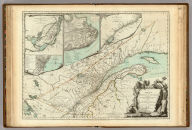 A New Map Of The Province of Quebec, according to The Royal Proclamation, of the 7th of October 1763. from The French Surveys Connected with those made after the War. By Captain Carver, and Other Officers, in His Majesty's Service. (with) four inset maps: A Particular Survey Of The Isles of Montreal, Plan of Montreal, or Villemarie, The City of Quebec, Course of the River St. Laurence, from la Valterie to Quebec on a Larger Scale. London. Printed for Robt. Sayer and John Bennett ... 16th February 1776.