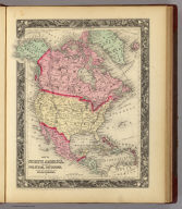 Map Of North America. Showing Its Political Divisions, and Recent Discoveries in the Polar Regions. 3. Constructed and Engraved by W. Williams Philadelphia. Entered ... 1860, by S. Augustus Mitchell, Jr. ... Pennsylvania.