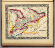 Map Of Canada West In Counties. 8. Entered ... 1860, by S. Augustus Mitchell, Jr. ... Pennsylvania.