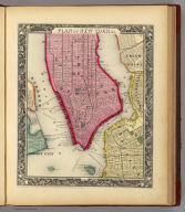 Plan Of New York &c. 16. Drawn & Engraved by W. Williams. Entered ... 1860, by S. Augustus Mitchell, Jr. ... Pennsylvania.