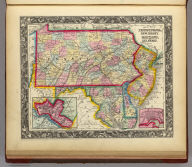 County Map Of Pennsylvania, New Jersey, Maryland, And Delaware. 18. (with) two insets of Philadelphia. 19. and City Of Baltimore. 20. Entered ... 1860, by S. Augustus Mitchell, Jr. ... Pennsylvania.