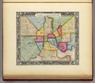 Plan Of Baltimore. 21. Entered ... 1860, by S. Augustus Mitchell, Jr. ... Pennsylvania.