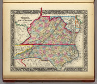 County Map Of Virginia, and North Carolina. 23. Entered ... 1860, by S. Augustus Mitchell, Jr. ... Pennsylvania.